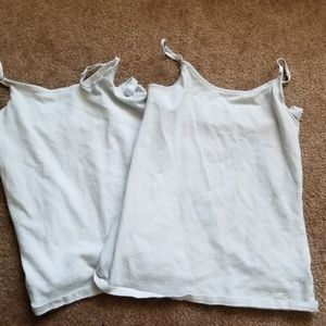 Plain white tanktops